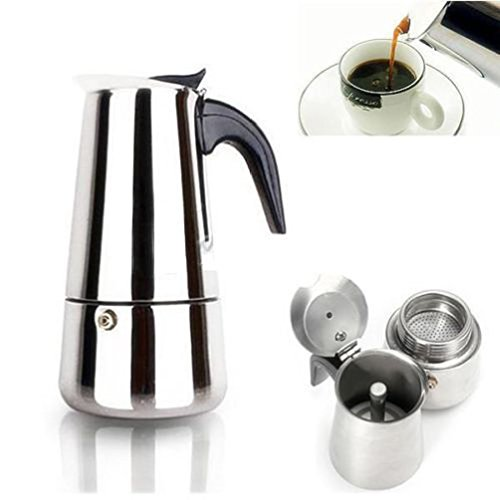 Best Espresso Coffee Maker Uk ~ Ml stainless steel espresso coffee maker stove top