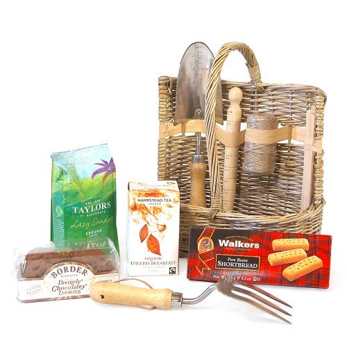 The gardeners tea coffee break hamper gift ideas for for Gardening gifts for him